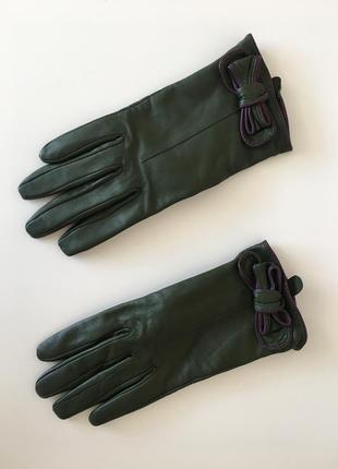Винтажные кожаные брендовые перчатки