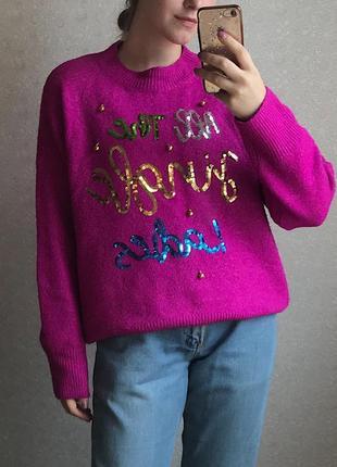 Мягчайший розовый свитер с колокольчиками от primark