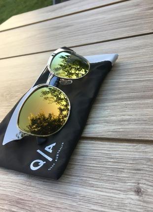 Стильные актуальные очки трендовые quay australia кошачий глаз модные