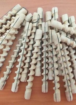 Спиральные бигуди. деревянные бигуди.
