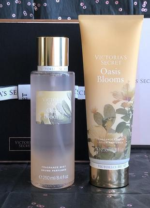Набор спрей мист и лосьон для тела oasis blooms - victoria's secret.