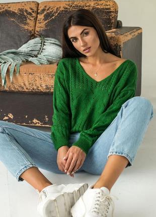 Свитер вязаный (пуловер)