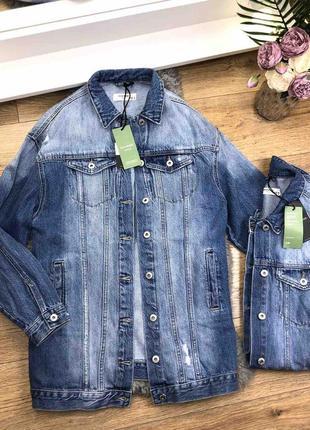 Удлененная джинсовая куртка reserved,oversize