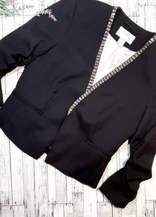 Новый стильный укороченный жакет пиджак h&m