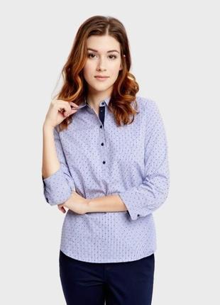 Стильні сорочки ostin з принтом-горошок ostin s-44, m46, l-48, xl-50