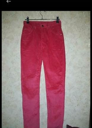 Брюки джинсы вельветовые высокая посадка винтаж