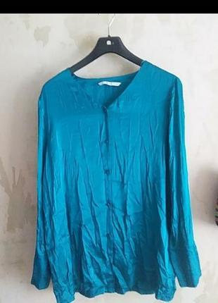 Блузка рубашка атласная сатиновая