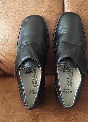 Кожаные глубокие туфли нат кожа полуботинки