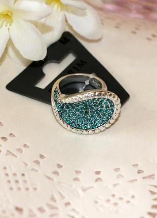 Шикарное кольцо с кристаллами р.16,5-17 pilgrim дания элитная ювелирная бижутерия