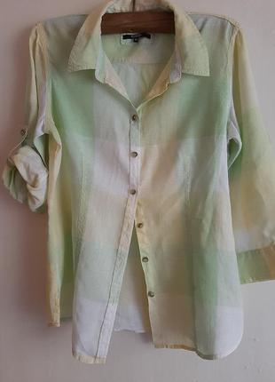Женская рубашка лен