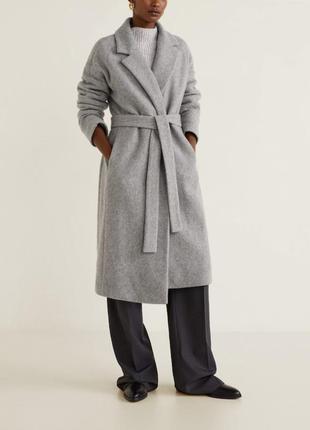 🌿 пальто-халат под пояс