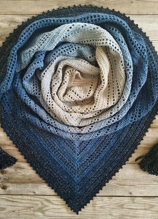 Красивейший бактус (платок, шаль) ручной работы