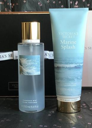 Набор спрей мист и лосьон для тела marine splash - victoria's secret.