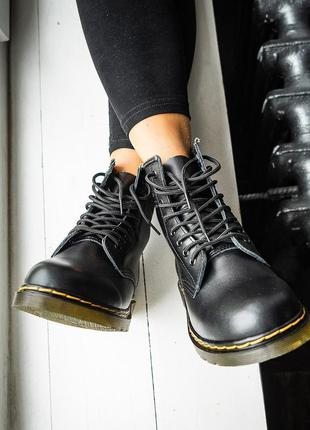 Ботинки dr. martens 1460 black без хутра черевики