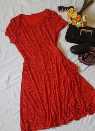 Яокое платье миди с коротким рукавом  вискоза