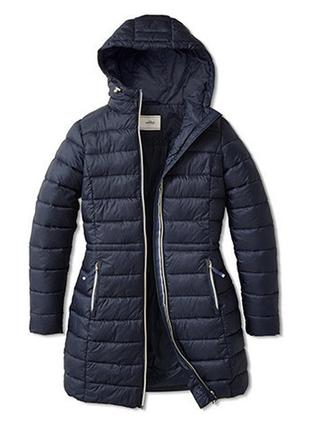Стёганое пальто с капюшоном 46/52-54