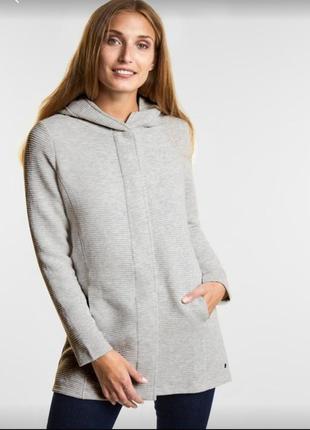 Трикотажная куртка пальто от немецкого бренда cecil , l-xl