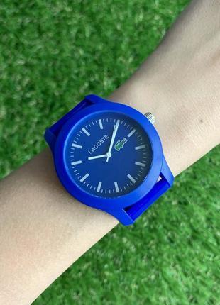 Женские наручные часы каучуковые синие