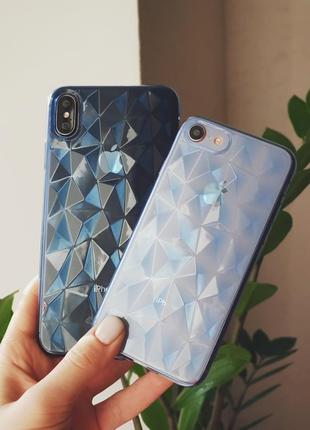 Прозрачный силиконовый чехол на  iphone 6/7/8/7plus/8plus/x/xs/xs max