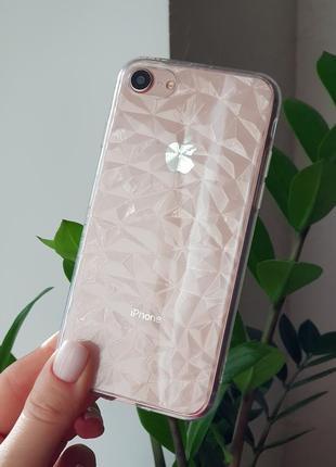 Прозрачный силиконовый чехол на iphone 6/7plus/8plus/x/xs