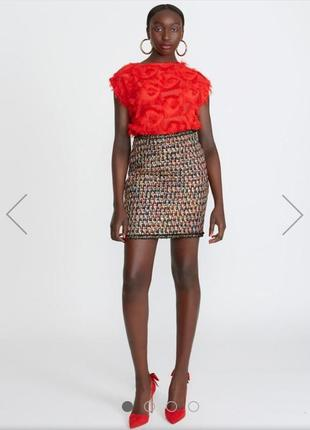 Видовая юбка на осень, разноцветная, крутая