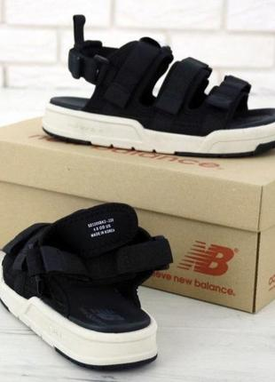 Мужские сандалии босоножки new balance сандали. нью беланс. black white