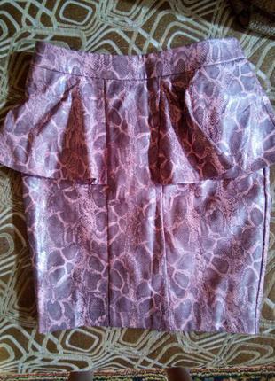 Новая юбка под кожу love label р. 8 хс-с