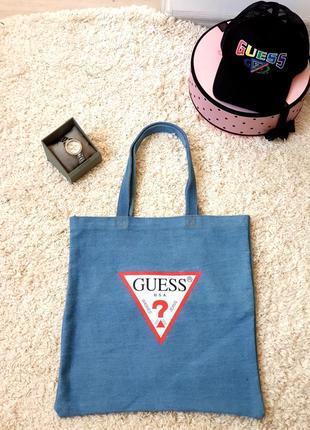 Джинсовая сумка guess