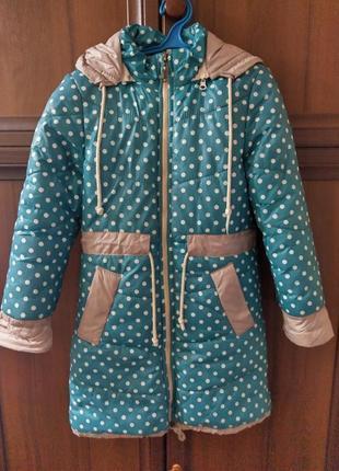 Курточка зимняя 128-130