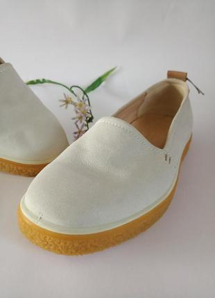 Ecco crepetray, оригинал, крутие туфли, слипони.