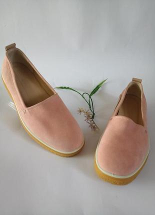 Ecco crepetray, крутие оригинал, туфли, слипони,