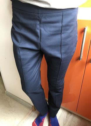 Брюки mango штаны синие чёрные классические зауженные брюки