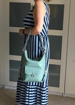 Рюкзак-сумка на плечо кожаный caterina