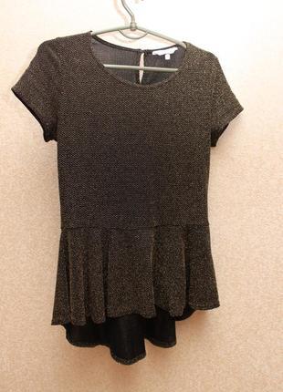Нарядная блуза с баской