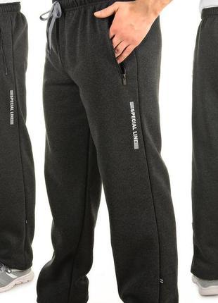 Мужские теплые трикотажные штаны с начесом tailer sport (591)
