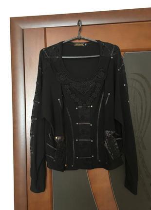 Брендовая стильная изумительно красивая блузочка большого размера в среднем 56