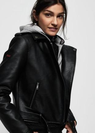 Косуха куртка кожанка superdry