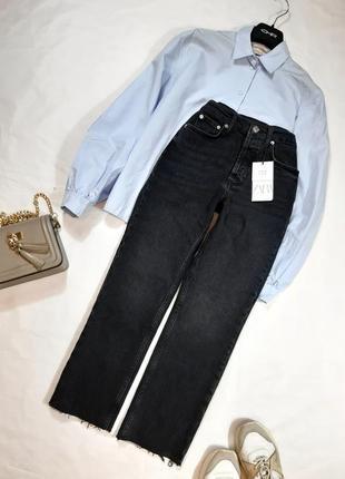 Новые прямые джинсы из последней коллекции zara, 34,