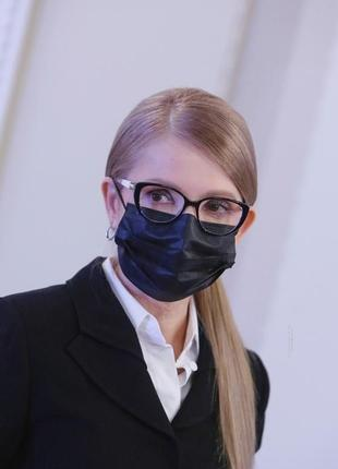 Маски медицинские черные с фиксатором для носа 100 штук