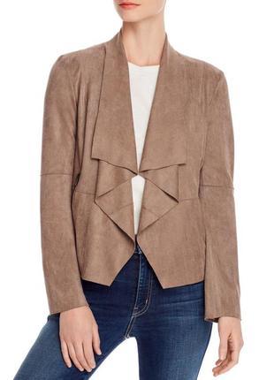 Куртка накидка песочного цвета под замш