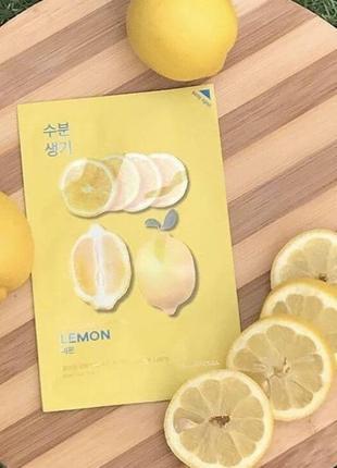 Тканевая маска с лимоном holika holika pure essence mask sheet