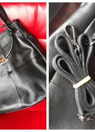 Кожаная сумка-шопер в стиле dolce&gabbana