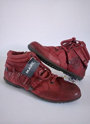 Крутие кожание кроссовки от немецкого бренда marc ,37