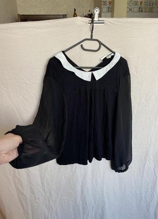 Школьная офисная блуза с воротником