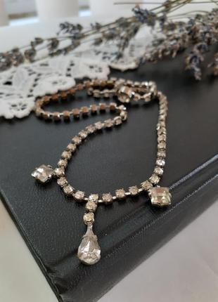 Колье чехия винтаж кристаллы 1947 год клеймо czechoslovakia