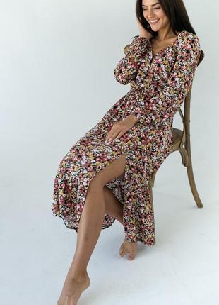 ❤️элегантное платье миди в цветочный принт ❤️