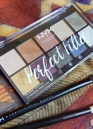 Nyx professional makeup perfect filter shadow palette палетка теней для век 03