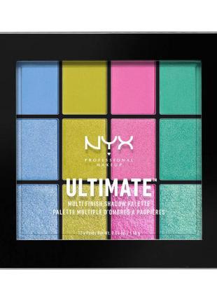 Nyx professional makeup ultimate multi-finish shadow palette палетка теней 05