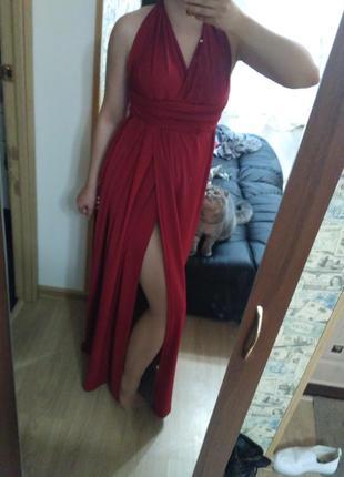 Платье трансформеров марсала