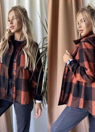 Теплая шерстяная рубашка в стиле zara пальто байка тепла байковая рубашка пальто в клетку